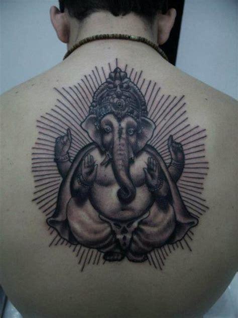 ganesha tattoo realistic back religious ganesh tattoo by blood for blood tattoo