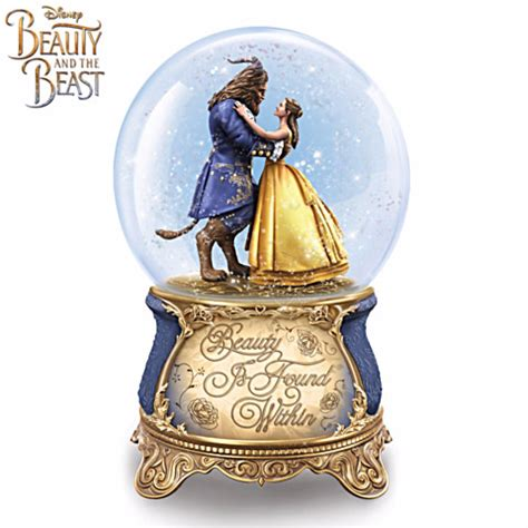 snow globe with fan disney s beauty and the beast belle snow globes disney