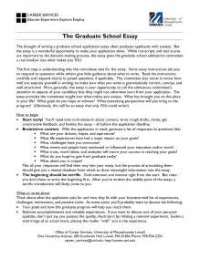 Graduate School Essays Sles by Master Admission Essay