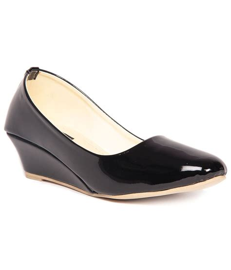glossy wedges ten glossy black wedges price in india buy ten glossy
