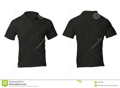 Kaos Black Id 6 Free 1 s blank black polo shirt template stock photo image