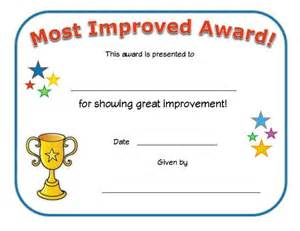 Most Improved Certificate Template by Award No Quote Sports Sports Award Certificate Awards