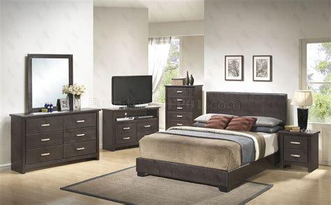brown bedroom furniture g1800 bedroom 6pc set in dark brown by glory furniture