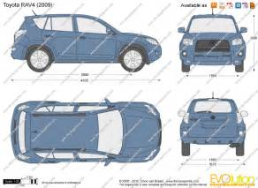 Toyota Rav4 Size The Blueprints Vector Drawing Toyota Rav4