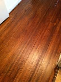 wood floors after one coat of satin poly over duraseal