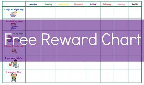 8 best images of toddler reward chart template printable