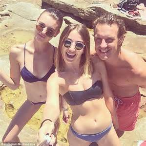 montana cox reveals slender figure in bikini with selfie stick daily