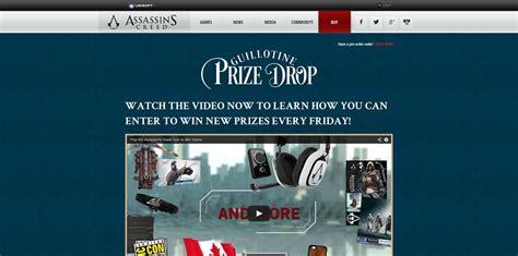 Play Sweepstakes Online - assassinscreed com play assassin s creed unity guillotine prize drop online