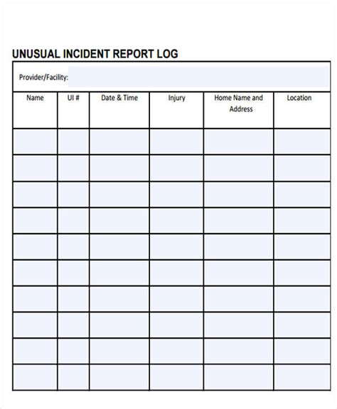 log report template 28 images daily work log template