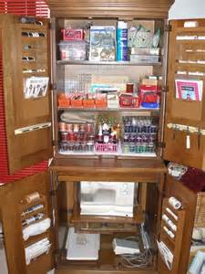 need to convert our armoire into a sewing station
