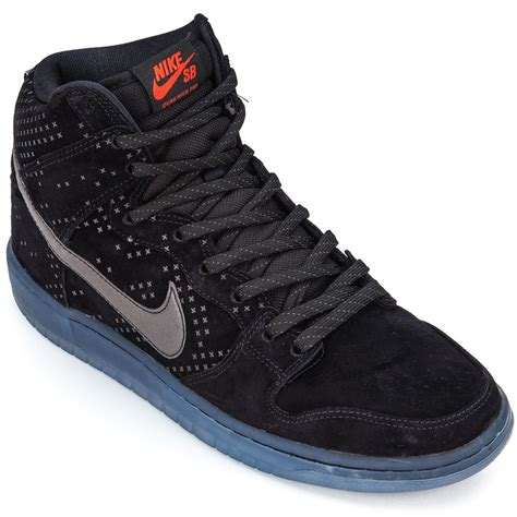 nike dunk high shoe nike dunk high premium flash sb shoes black clear black