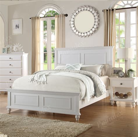 White California King Bed Poundex California King Bed White Finish F9270ck