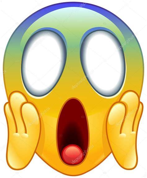 clipart faccine cara gritando de miedo emoticon vector de stock