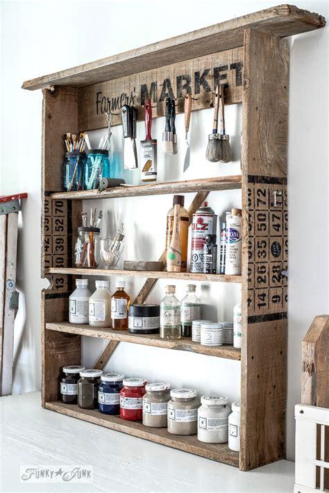 Paint Shelf by Simple Reclaimed Wood Sign Paint Shelffunky Junk Interiors