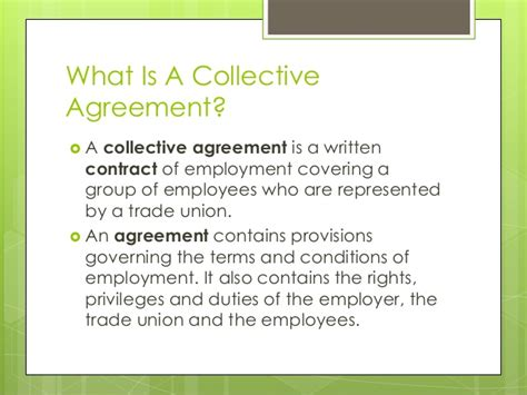 what is a section 52 agreement collective agreement rights and benefits april 2015