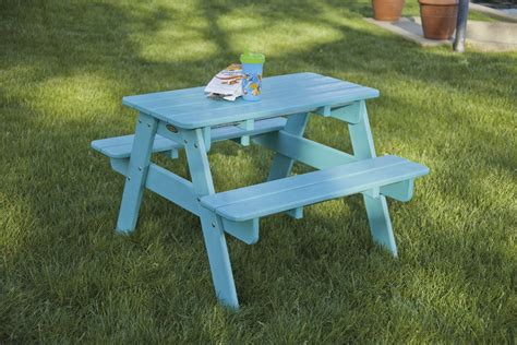 childrens plastic picnic bench children s classic picnic table recycled plastic
