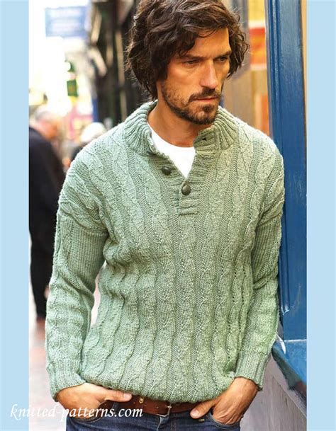 mens sweater knitting pattern s jumper knitting pattern