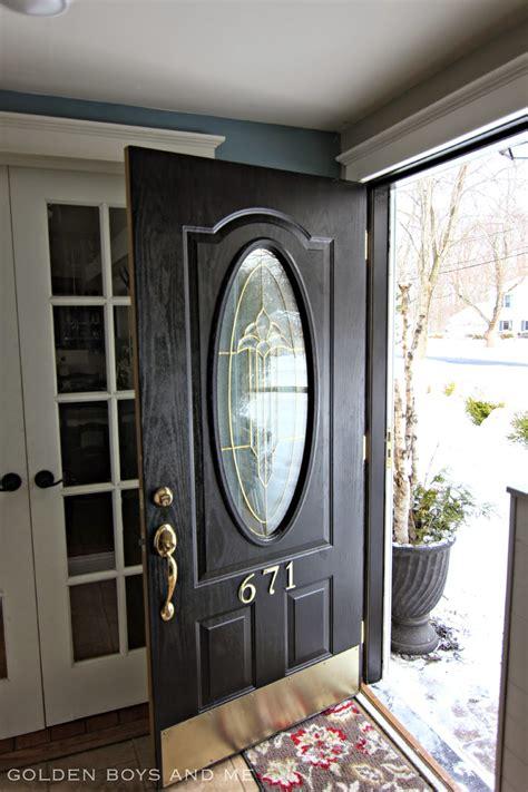 Brass Kick Plates For Front Doors Golden Boys And Me New Front Door Paint