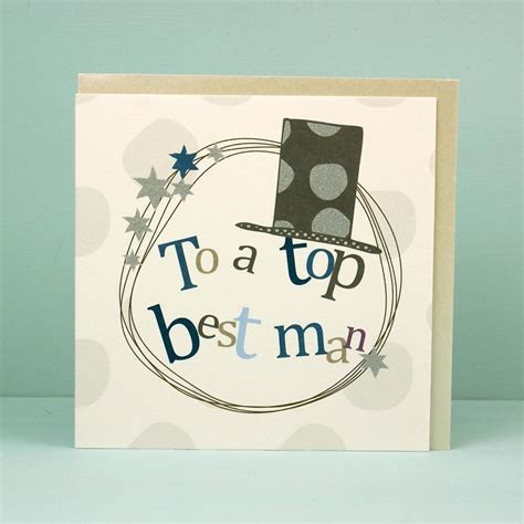 Top Best Man Thank You Card   Karenza Paperie