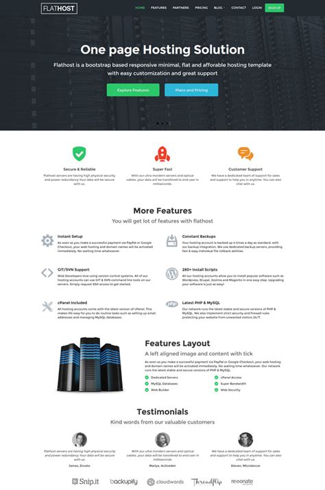 20 Exclusive Html Web Hosting Templates Web Hosting And Templates