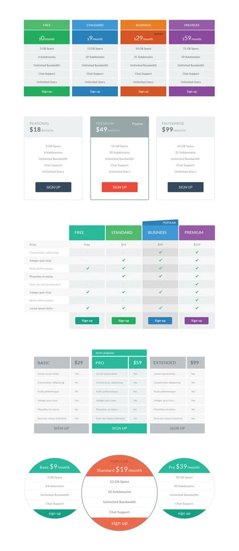 flat price table tempees com free flat pricing tables by darkstalkerr on deviantart