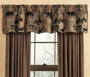 Lodge Themed Curtains Smoky Mountain Tapestry Valance