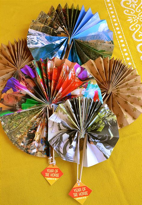 Handmade Paper Fans - handmade paper fans for new year evermine occasions