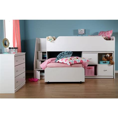 South Shore Bunk Beds South Shore Mobby Wood Loft Bed 3880087 The Home Depot