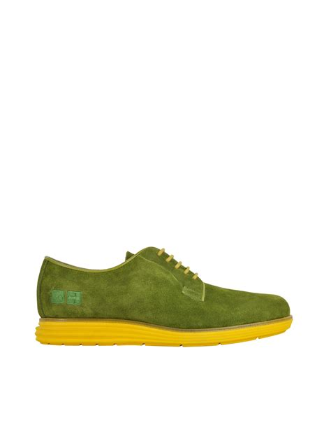 yellow oxford shoes d acquasparta green suede oxford w yellow sole in green