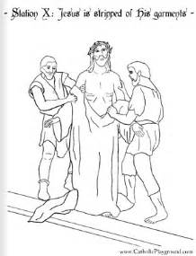 stations of the cross coloring pages coloring page for the tenth station of the cross jesus is