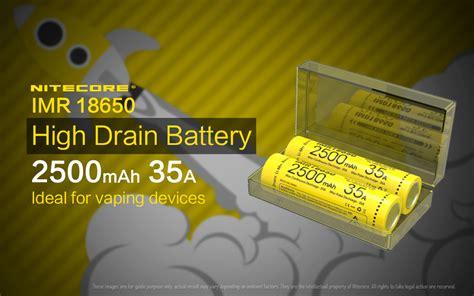 Nitecore Imr18650 Baterai Vape 2500mah 35a 3 7v Murah nitecore imr18650 baterai vape 2500mah 35a 3 7v yellow