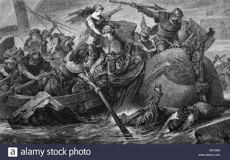 engraving battle middle ages vikings battle history painting engraving