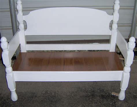 headboard into bench four poster headboard bench easy my repurposed life 174