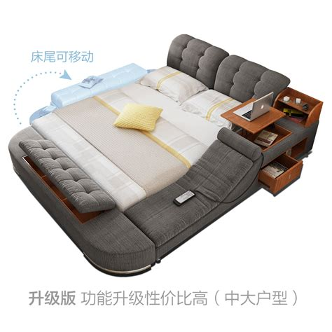 bed bed usd 684 91 massage cloth bed tatami bed fabric bed soft double bed 1 8 m storage bed