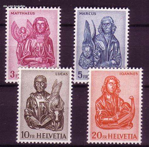 Brief Schweiz Briefmarke Briefmarken Schweiz Michel Nr 738 741 Evangelisten 1961 Postfrisch G 252 Nstig Kaufen Im