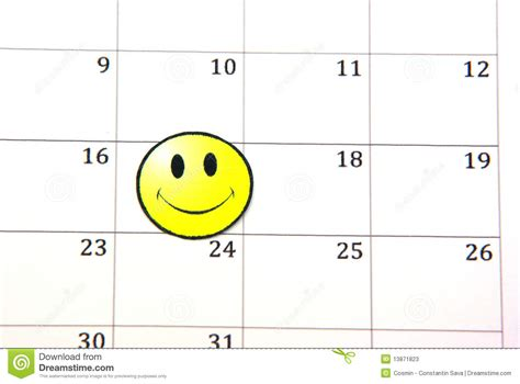 Faced Calendar smile on calendar stock image image of empty marked