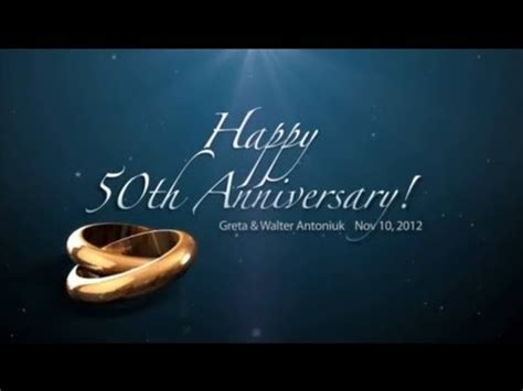 50th Anniversary Powerpoint Template dvd 50th anniversary slideshow greta and walter antoniuk