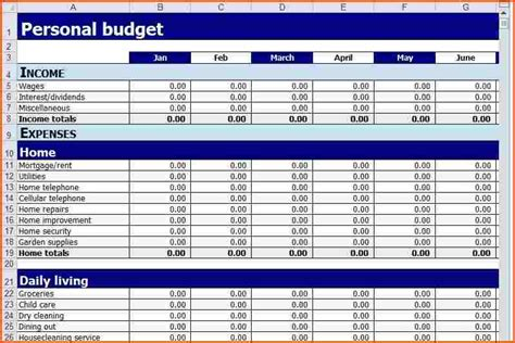 monthly budget worksheet free budget template in excel