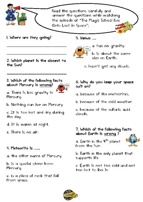 the magic school worksheets 59 free space worksheets