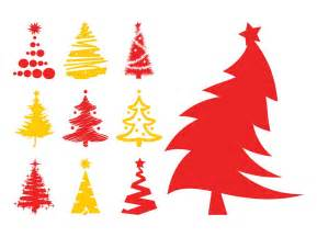 christmas trees silhouettes vector art graphics