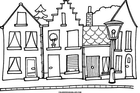 pueblo house coloring page peque 241 o y bonito pueblo para colorear