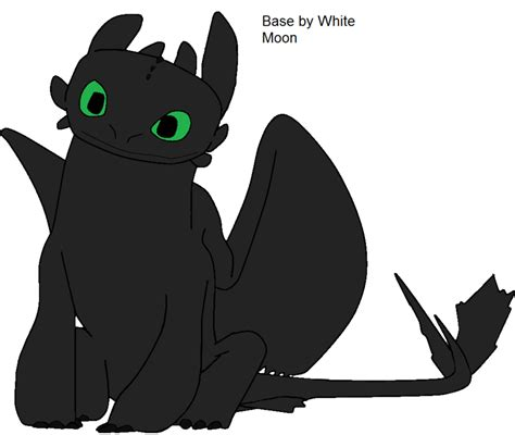 Dm016 Base 1 White toothless base 1 by whitemoonthefury on deviantart