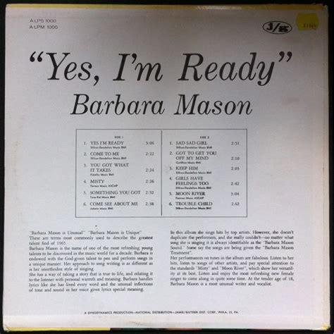 yes i m ready barbara mason yes i m ready arctic