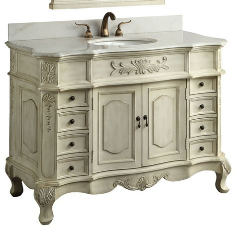 traditional style antique white morton bathroom sink