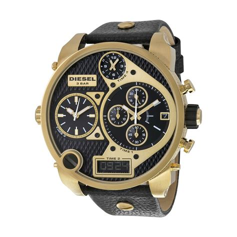 Diesel Dz Leather Black Black diesel mr chronograph black black leather s