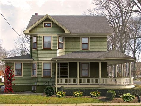 home with wrap around porch circular porch restored oldhouseguy