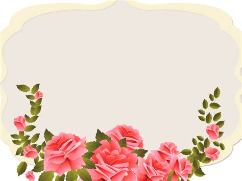 theme powerpoint rose red roses and elegant powerpoint templates border