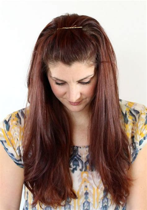 how to chnageyour hairstyle from a fringe 25 pretty bobby pin hairstyles