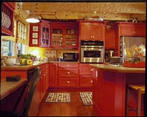Red Kitchen Designs 1000 Ideas About Red Country Kitchens On Pinterest