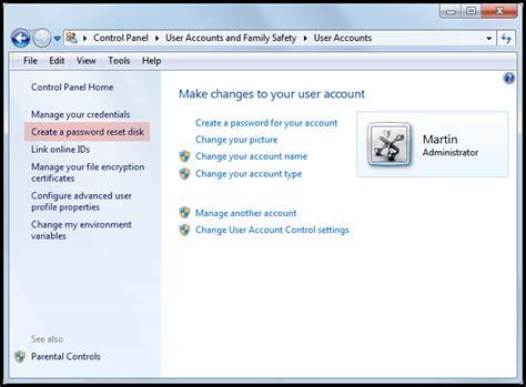 windows vista password reset disk error how to create use a windows password reset disk ghacks